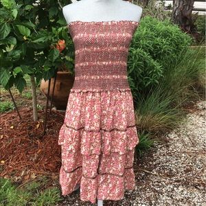 Free People Smocked Floral Tiered Dress